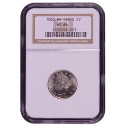 1883 No Cents Nickel Coin NGC MS66