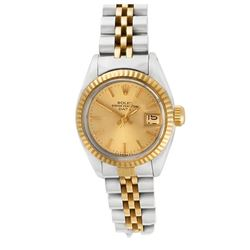 Rolex DateJust 14KT Two Tone Gold Ladies Wristwatch