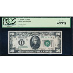 1928 $20 Chicago Federal Reserve Note PCGS 65PPQ