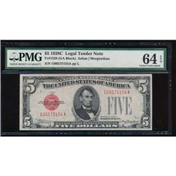 1928C $5 Legal Tender Note PMG 64EPQ