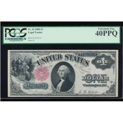 1880 $1 Legal Tender Note PCGS 40PPQ