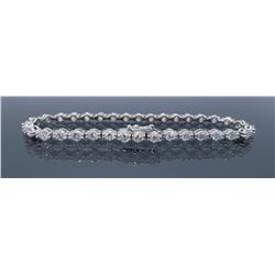 18KT White Gold 4.25ctw Diamond Bracelet