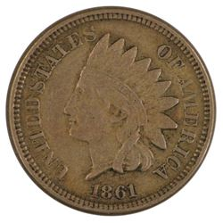 1861 Indian Cent Coin
