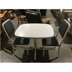 3PCS. WHITE DINETTE SET - TABLE & 2 CHAIRS
