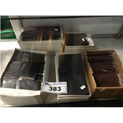 LARGE LOT OF SWEDISH MADE LEATHER ASSORTED WALLETS/CREDIT CARD HOLDERS/PASSPORT WALLETS ECT (APPROX