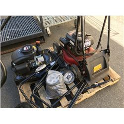 2 GAS POWERED LAWN MOWERS (MAY REQUIRE PARTS & REPAIR)