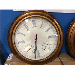 "24"" OUTDOOR LIGHTED ATOMIC CLOCK - BRONZE"
