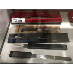 4 ASSORTED SWEDISH MADE CHEF KNIFES