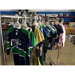 27 PCS OF NEW ASSORTED NHL KIDS CLOTHS (VANCOUVER CANUKS, PITTSBURG PENGUINS & CALGARY FLAMES)