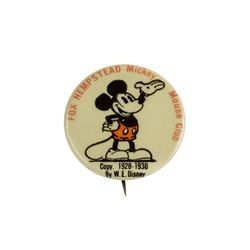 Fox Hempstead Mickey Mouse Club Button.