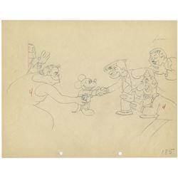 """Mickey's Gala Premiere"" Original Production Drawing."