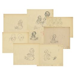 "Set of (18) Production Drawings from ""Broken Toys""."