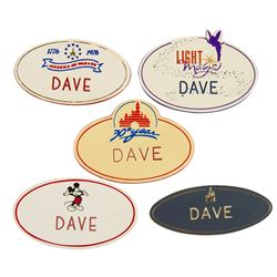 Collection of (5) Cast Member Name Tags.