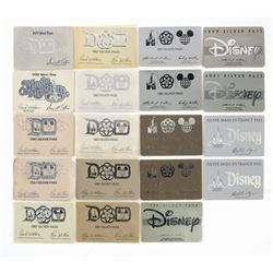 Collection of (19) Cast Member Silver Passes.