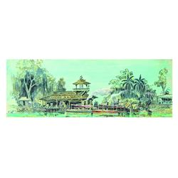 """Harper Goff """"Jungle Cruise"""" Hand-Painted Concept."""