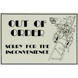 "Roger Rabbit ""Out of Order"" Sign."