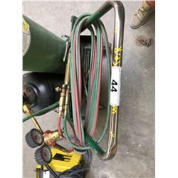SET OF WELDING TORCHES & CART