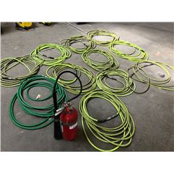 FIRE EXTINGUISHER & 10 AIR HOSES