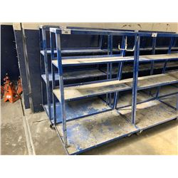MOBILE 4 TIER SHOP CART