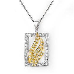 0.45 CTW Certified VS/SI Diamond Necklace 10K 2-Tone Gold - REF-37H3A - 10861
