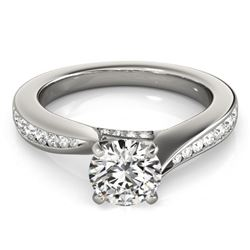 1.11 CTW Certified VS/SI Diamond Solitaire Ring 18K White Gold - REF-211K8W - 27564