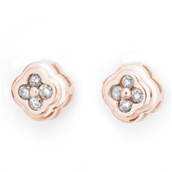 0.50 CTW Certified VS/SI Diamond Earrings 14K Rose Gold - REF-47T3M - 10515