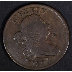 1804 HALF CENT, VF/XF