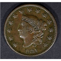 1831 LARGE CENT N-6 XF/AU