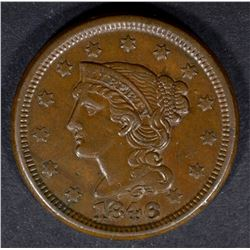 1846 LARGE CENT N-8 AU GLOSSY BROWN