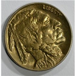 1937-D BUFFALO NICKEL ( 3 LEGS )