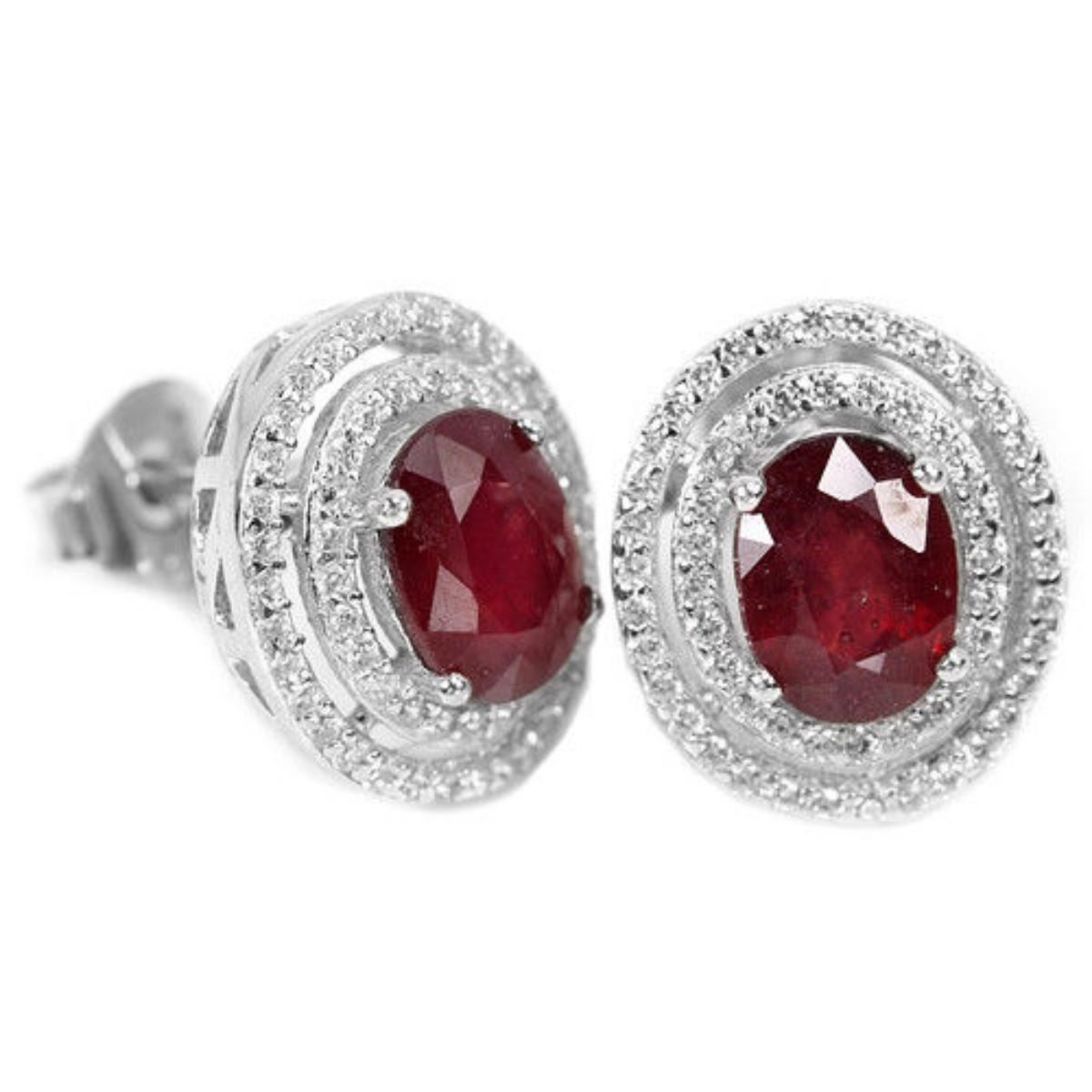 fullxfull ruby il qnrf round red gold vintage stud products earrings