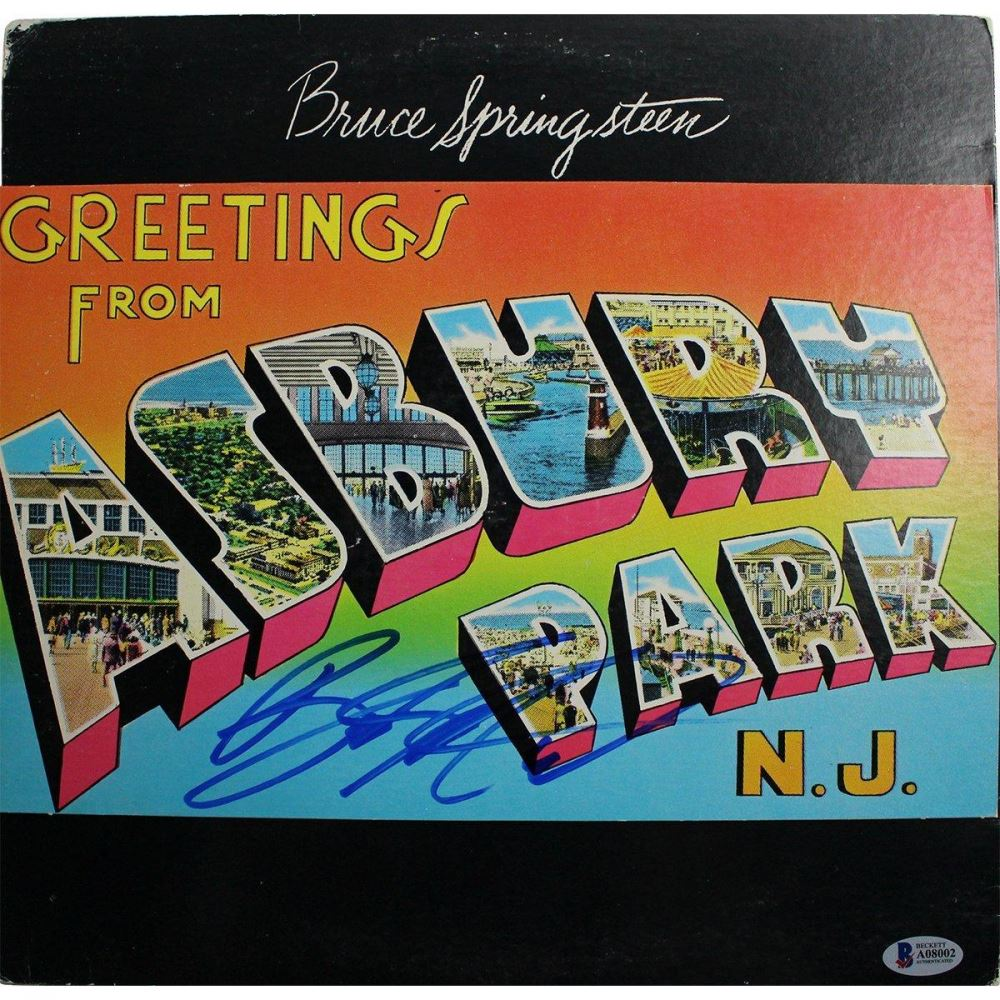 Bruce springsteen signed greetings from asbury park nj vinyl bruce springsteen signed greetings from asbury park nj vinyl record album beckett coa m4hsunfo