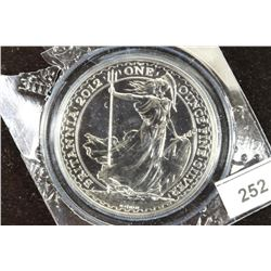 2012 GREAT BRITAIN 1 OZ. FINE SILVER 2 POUND