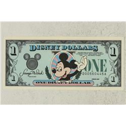 1989 DISNEY DOLLAR MICKEY CRISP UNC HARDER