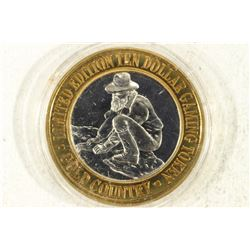 CASINO $10 SILVER TOKEN (UNC) GOLD COUNTRY