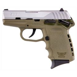 SCCY CPX1 Pistol, Flat Dark Earth/Stainless Slide, 9mm, 10 Shot, NEW IN BOX