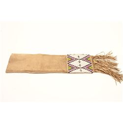 AMER. NATIVE INDIAN BEADED PIPE BAG