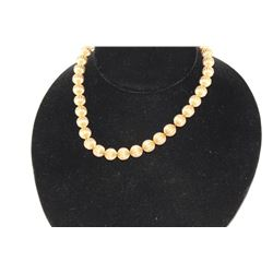 GOLD HOLLOW BEAD NECKLACE
