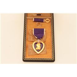 WWII CASED PURPLE HEART