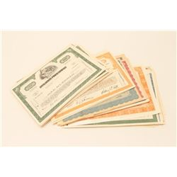 STOCK CERTIFICATE LOT