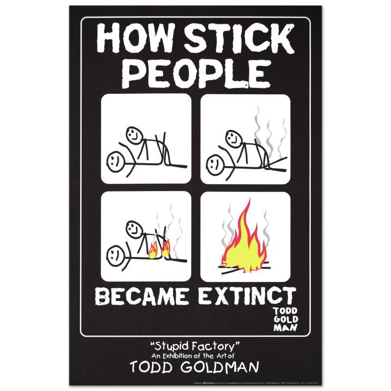 how stick people became extinct by goldman todd