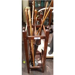 UMBRELLA STAND W/CANES ETC