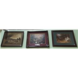 THREE FRAMED PRINTS