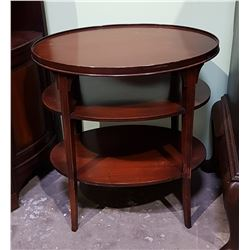 OVAL MAHOGANY OCCASIONAL TABLE