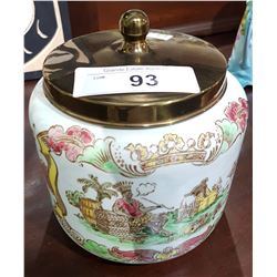 ROYAL GOEDEWAAGEN BISCUIT BARREL MADE IN HOLLAND