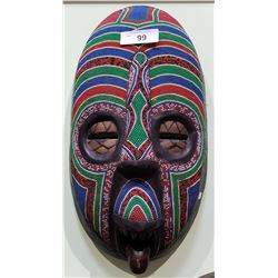 BEAUTIFUL BEADED AFRICAN MASK