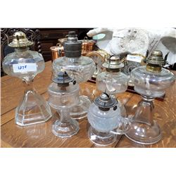 LOT OF SIX OIL LAMPS