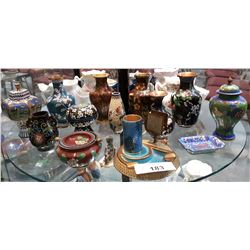 LOT OF 14 PCS CLOISONNE