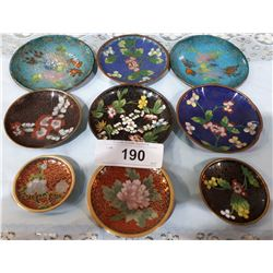 LOT OF 9 PCS CLOISONNE
