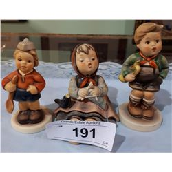 LOT OF 3 GOEBEL FIGURINES